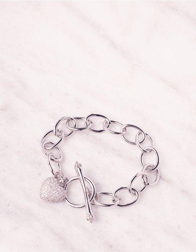 Браслет на руку із ланцюга з кулоном у вигляді серця | 243822-06-XX - A-SHOP