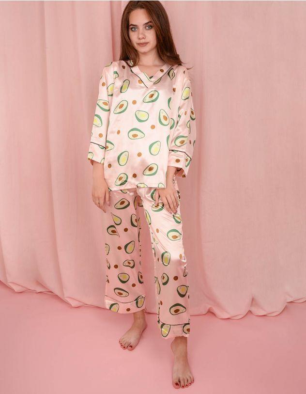 Піжама з принтом авокадо | 241574-14-21 - A-SHOP