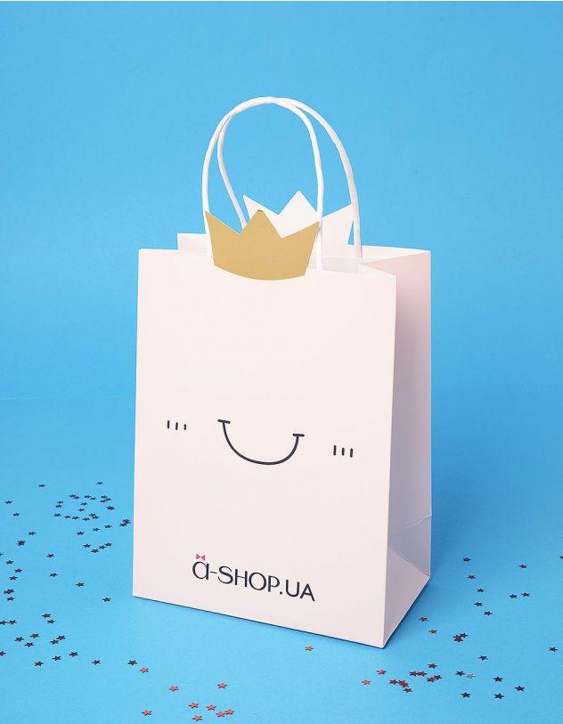 Пакет a shop подарунковий з принтом смайлика | 236020-44-XX