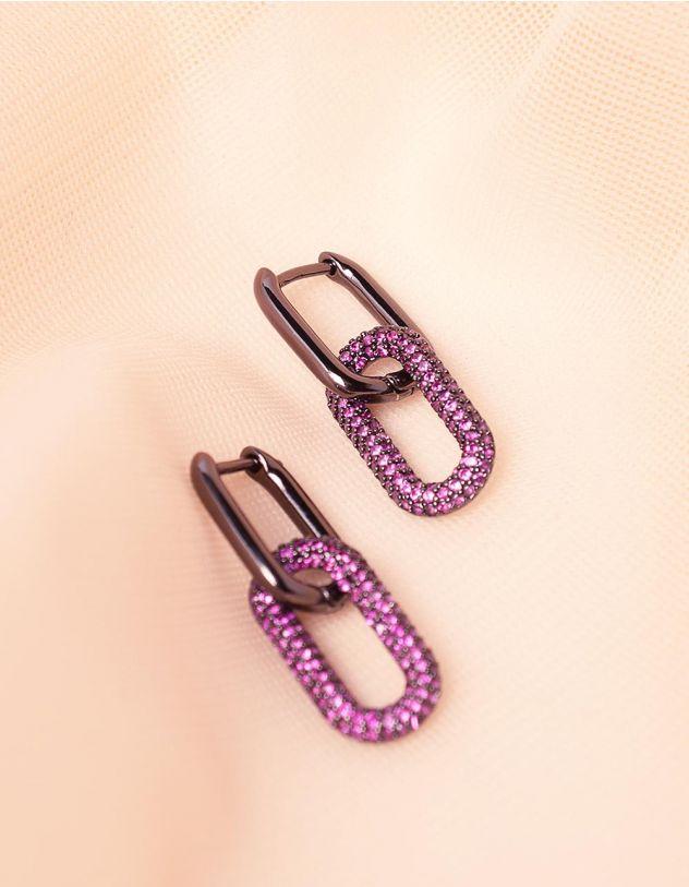 Сережки у вигляді ланцюжка з камінцями | 242951-03-XX - A-SHOP