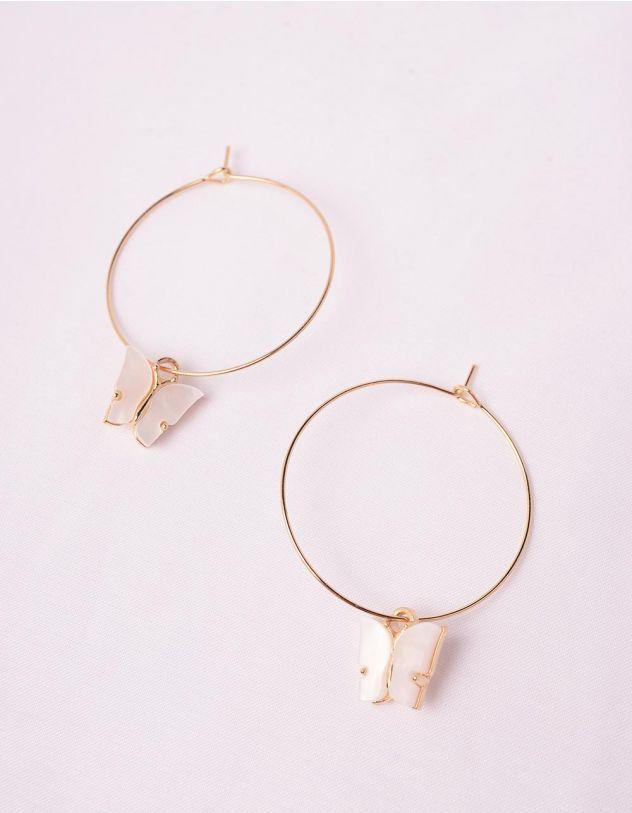 Сережки кільця з метеликами   243837-01-XX - A-SHOP