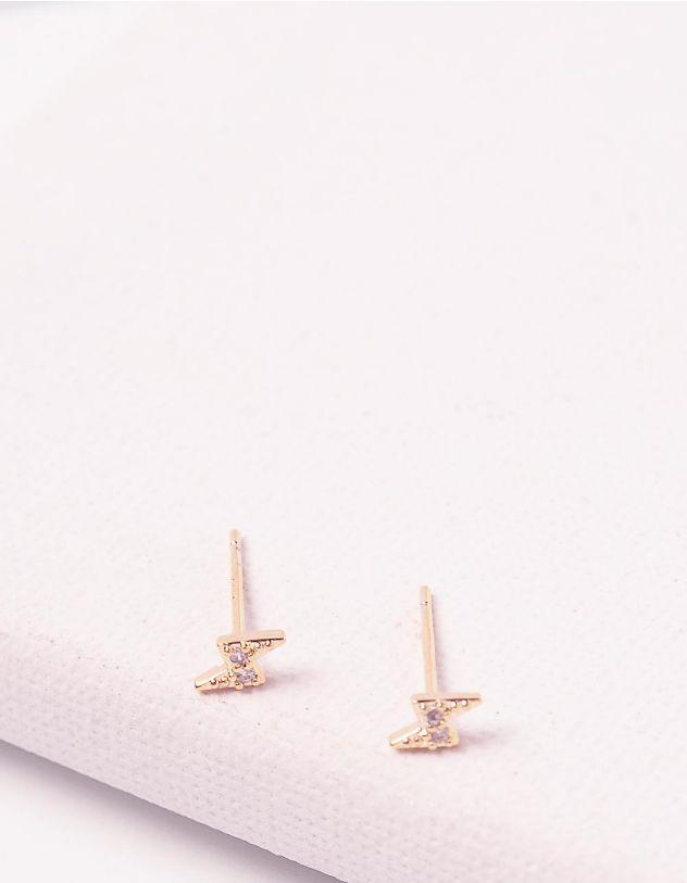 Сережки пусети з блискавками   244671-08-XX - A-SHOP