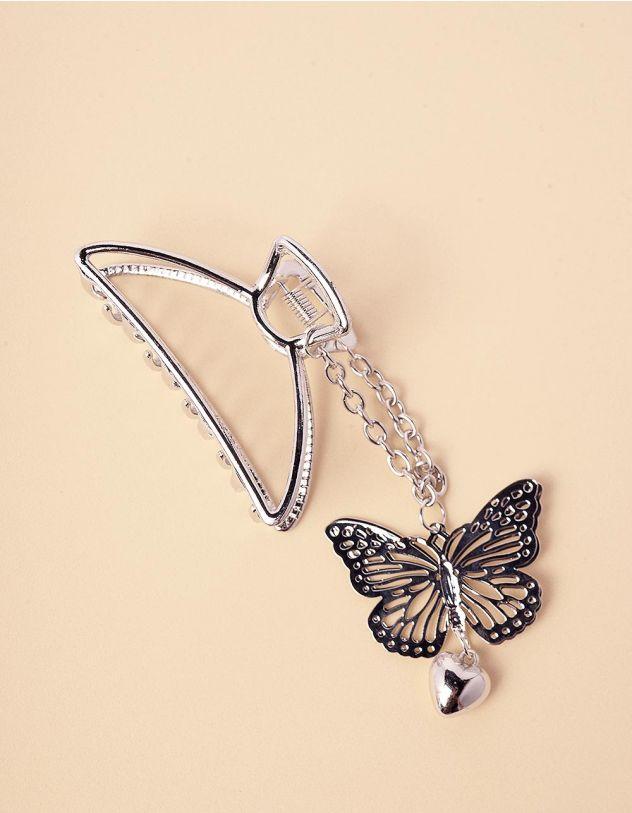 Шпилька для волосся крабік з метеликом | 245943-05-XX - A-SHOP