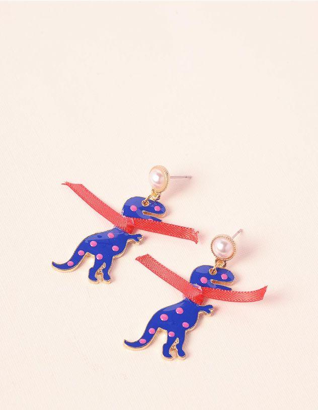 Сережки з динозаврами | 236929-13-XX - A-SHOP