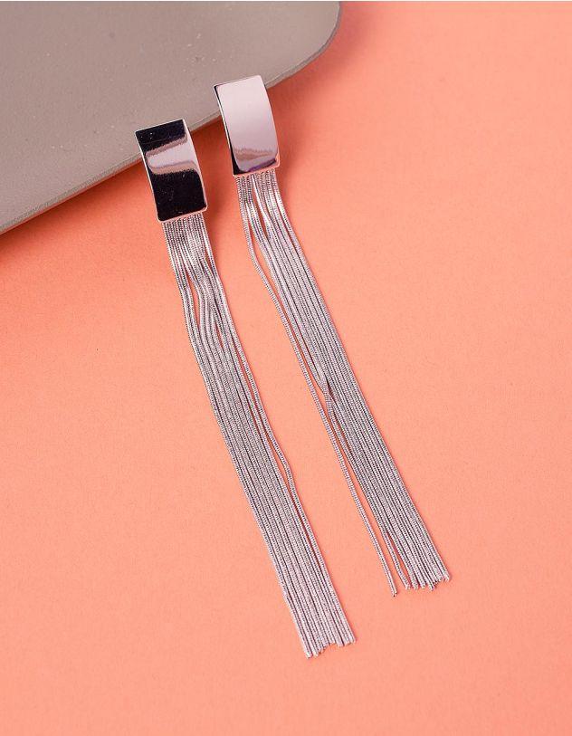 Сережки довгі з ланцюжками   235979-05-XX - A-SHOP