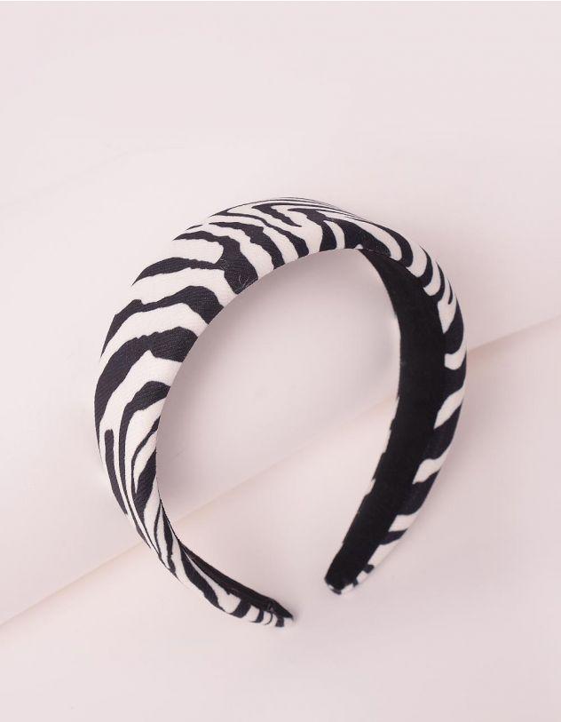 Обідок для волосся з принтом зебри | 246550-02-XX - A-SHOP