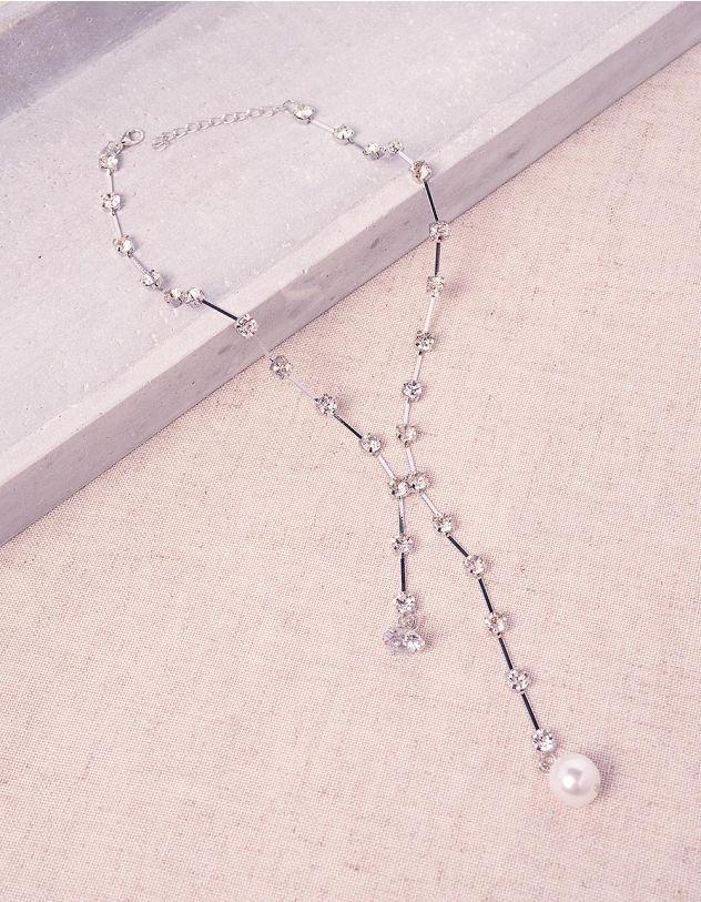 Підвіска на шию з камінцями та перлинами | 245382-06-XX - A-SHOP