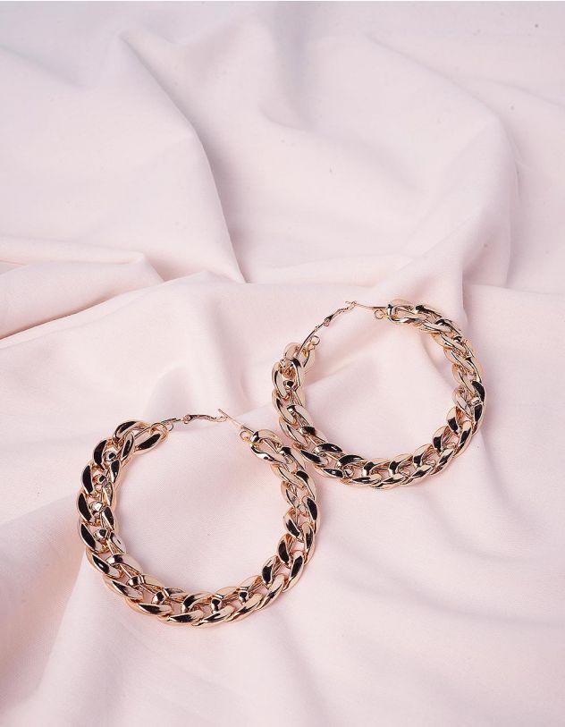 Сережки кільця у вигляді ланцюгів | 243065-04-XX - A-SHOP