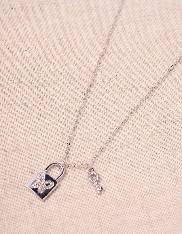 Підвіска на шию з кулоном у вигляді замка та ключа | 243836-06-XX - A-SHOP