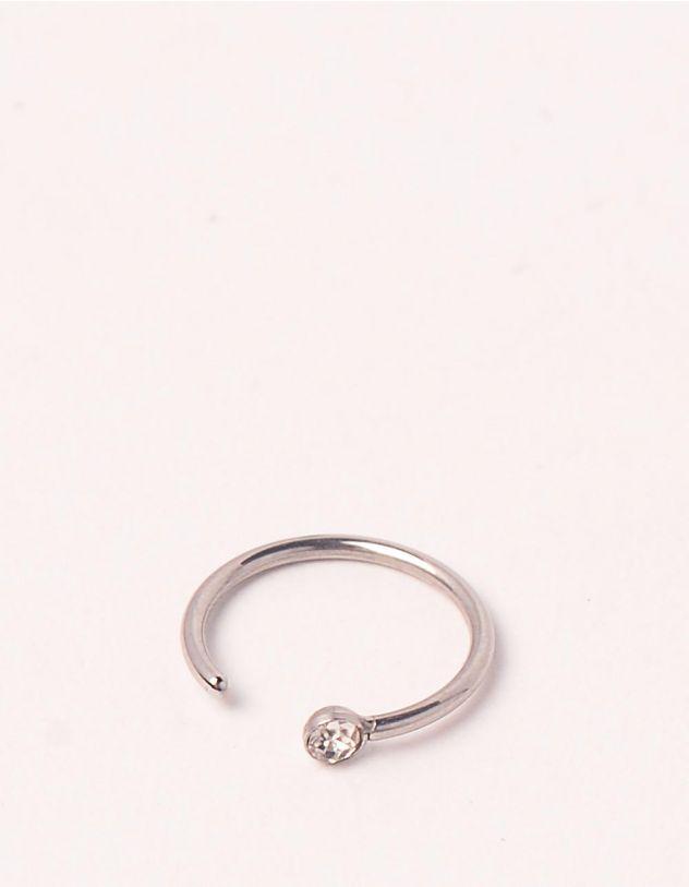 Сережка обманка з кристалом | 248978-05-XX - A-SHOP