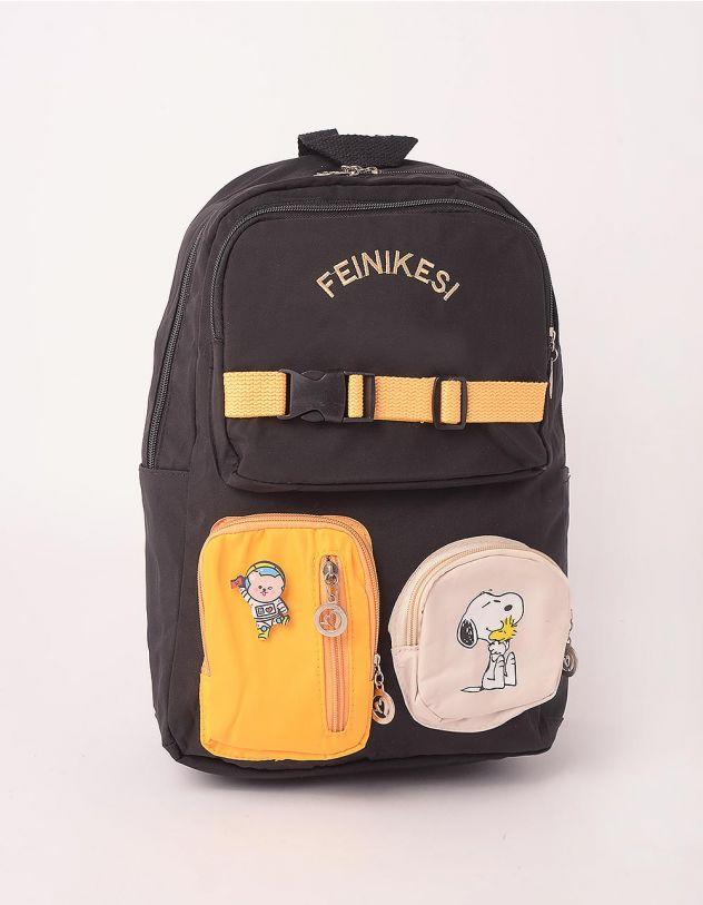 Рюкзак для міста  з кишенями та принтом песика | 248253-02-XX - A-SHOP