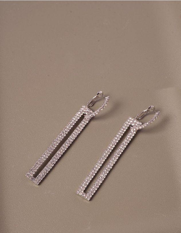 Сережки довгі декоровані стразами | 240159-06-XX - A-SHOP