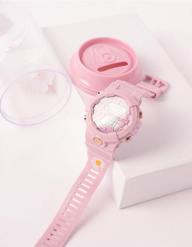 Годинник на руку з принтом ромашки у скарбничці | 243680-14-XX - A-SHOP