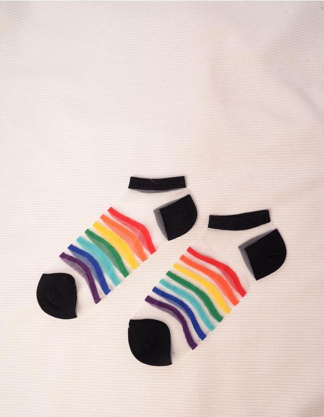 Шкарпетки прозорі у смужку | 244209-02-XX - A-SHOP