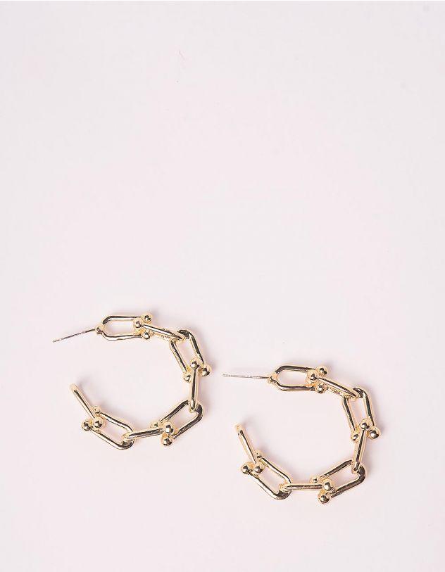 Сережки кільця у вигляді ланцюжка   246540-04-XX - A-SHOP