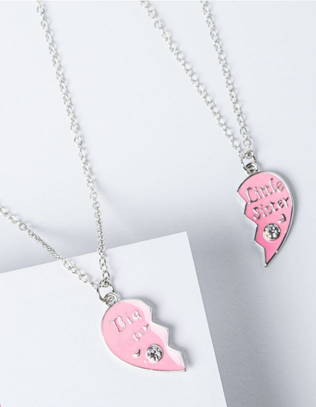 Підвіска френди парна з кулонами у вигляді серця | 227818-70-XX - A-SHOP