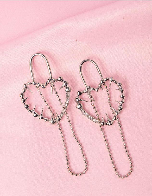 Сережки довгі у формі сердець | 249217-06-XX - A-SHOP