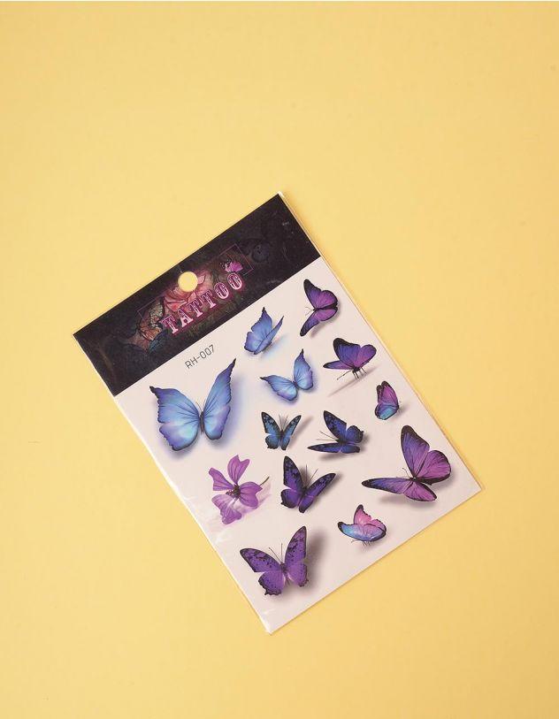 Татуювання тимчасове із зображенням метеликів | 243334-21-XX - A-SHOP
