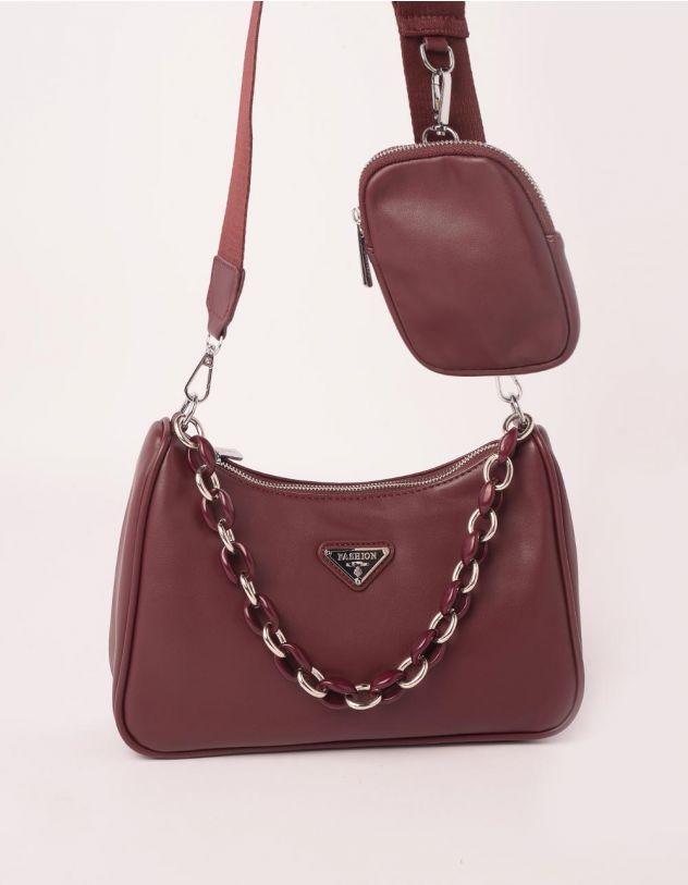 Сумка на плече з гаманцем та ланцюжком | 250128-27-XX - A-SHOP