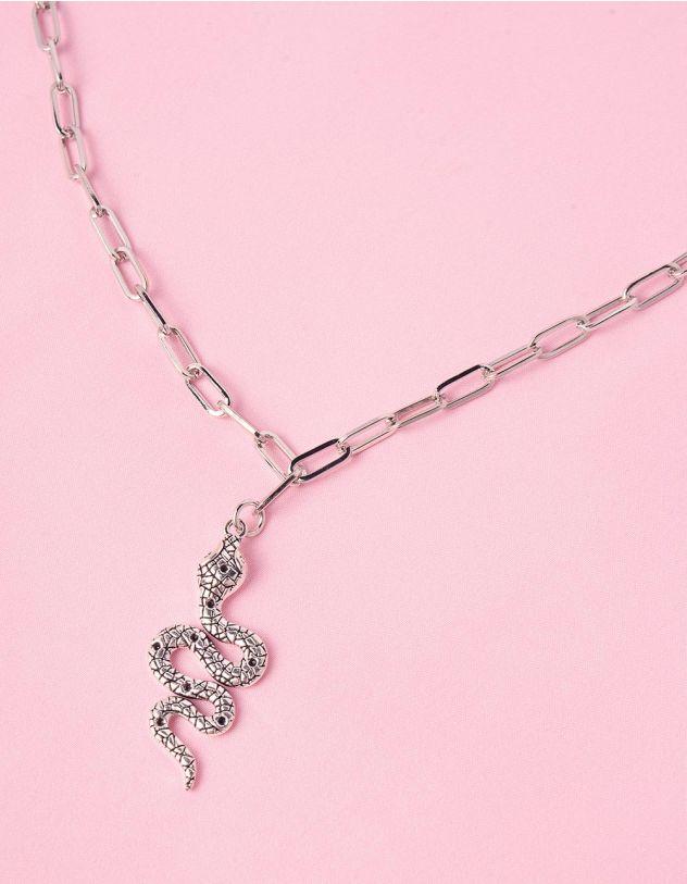 Підвіска на шию із ланцюжка з кулоном у вигляді змії | 245612-05-XX - A-SHOP