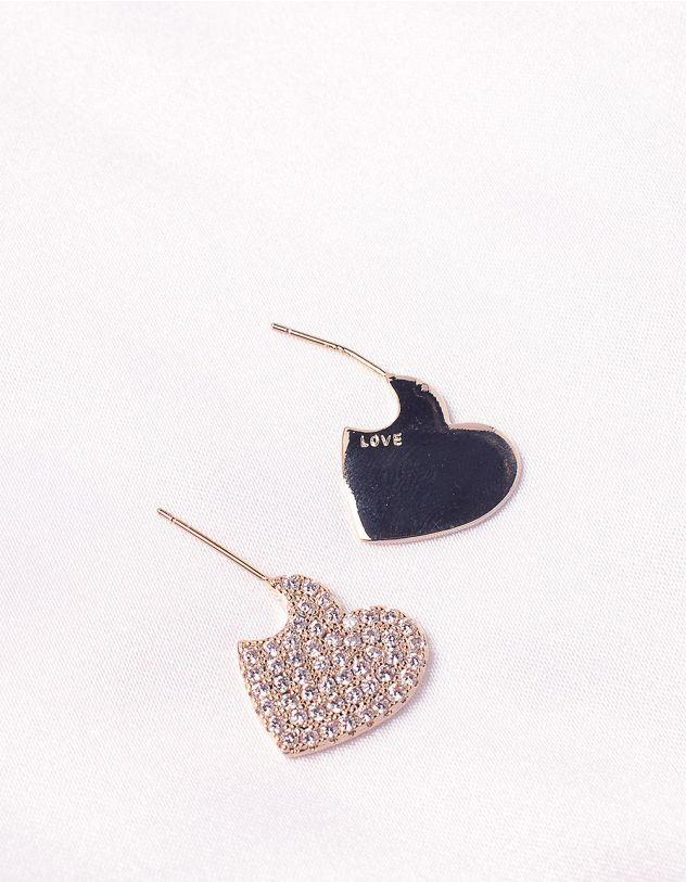 Сережки з серцями | 245192-08-XX - A-SHOP