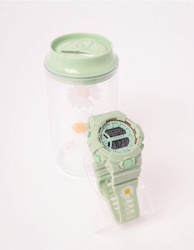 Годинник на руку з принтом ромашки у скарбничці | 243680-20-XX - A-SHOP