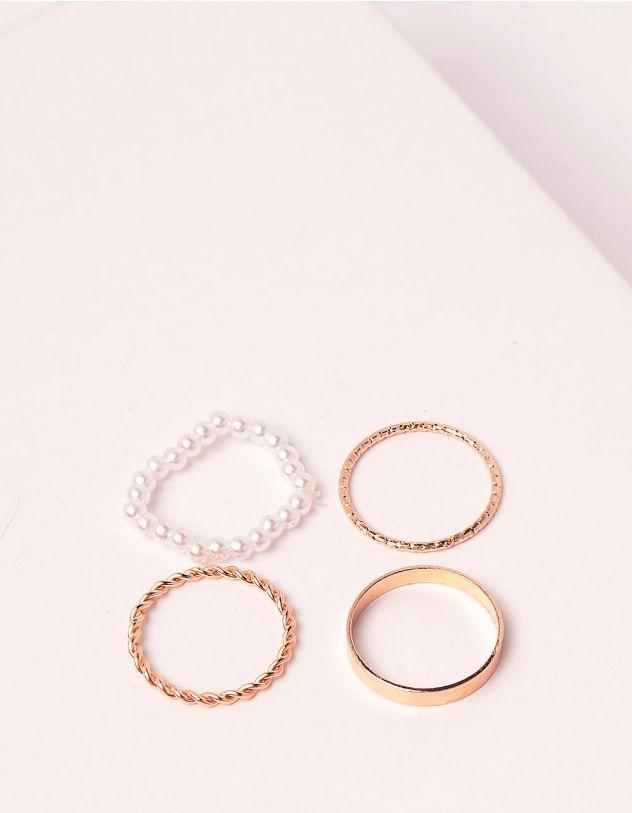Кільця у наборі із перлин плетені | 248710-08-XX - A-SHOP