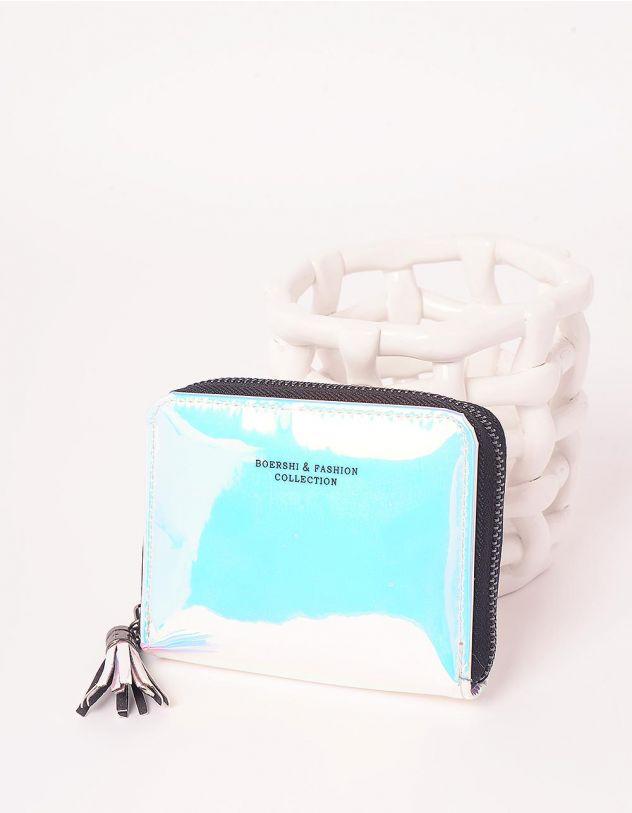 Гаманець на блискавці з китицею та голографічним покриттям   248455-18-XX - A-SHOP