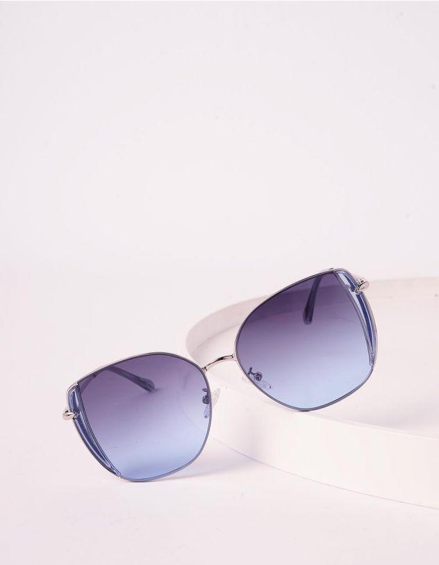 Окуляри cat eye сонцезахисні з блискітками на оправі | 241251-61-XX - A-SHOP