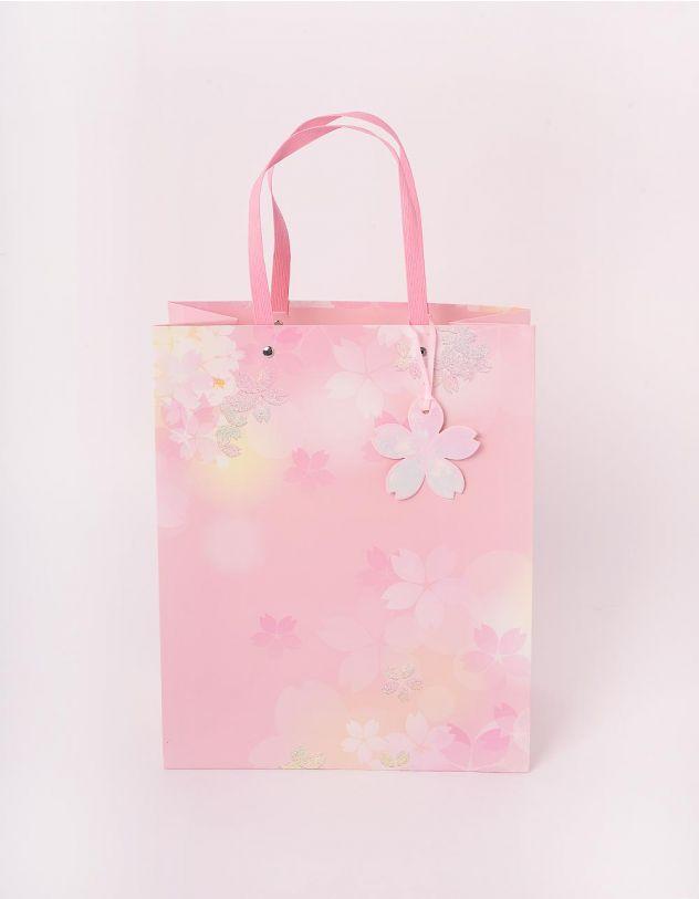 Пакет подарунковий з принтом квітів | 244135-44-XX - A-SHOP