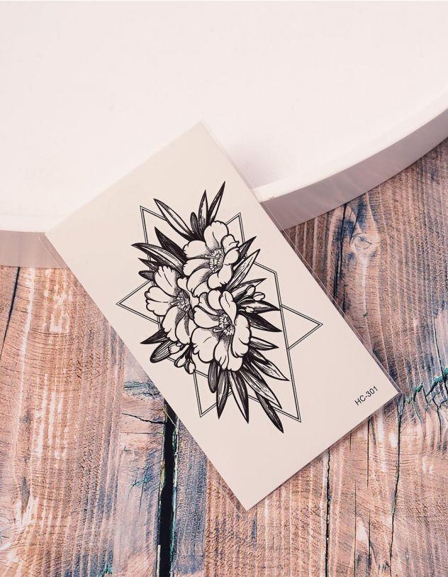 Тату тимчасове із зображенням квітів | 238191-02-XX - A-SHOP