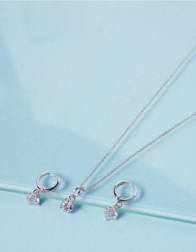 Комплект із підвіски та сережок з кристалами | 238818-06-XX - A-SHOP