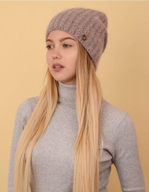 Шапка ковпак з візерунком плетеної коси | 238315-39-XX - A-SHOP