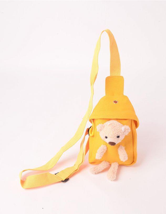 Сумка на плече з ведмедиком у кишені | 246029-19-XX - A-SHOP