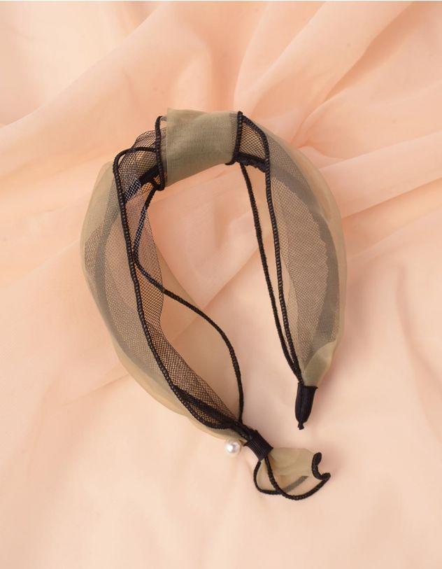 Обідок для волосся з вузлом та перлинами | 243770-37-XX - A-SHOP