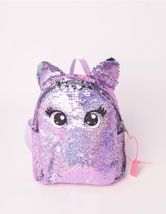 Рюкзак для прогулянок із паєток з вушками та очима | 239368-03-XX