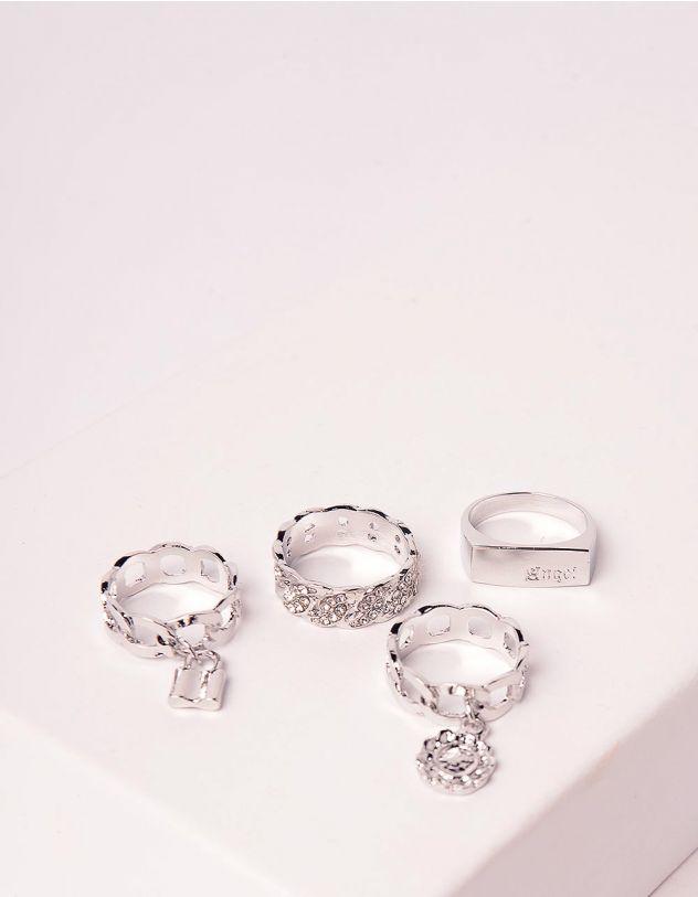 Кільця у наборі у вигляді ланцюжків з підвісками | 246195-06-XX - A-SHOP