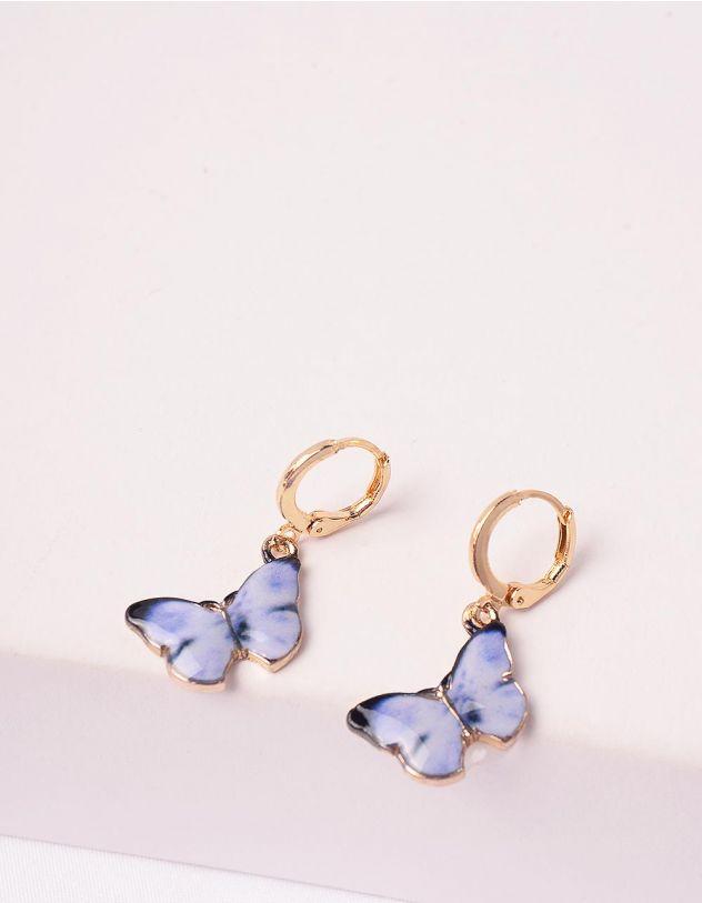 Сережки  у вигляді метеликів   246189-03-XX - A-SHOP