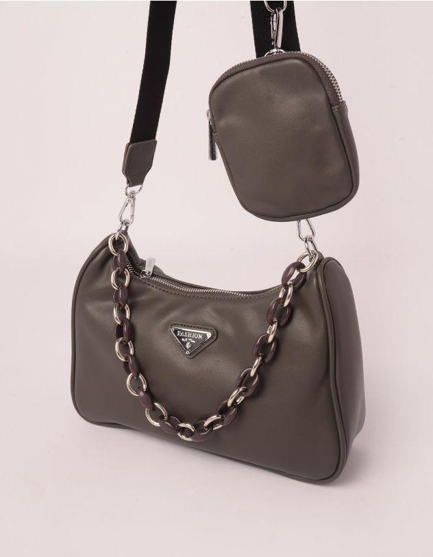 Сумка на плече з гаманцем та ланцюжком | 250128-28-XX - A-SHOP