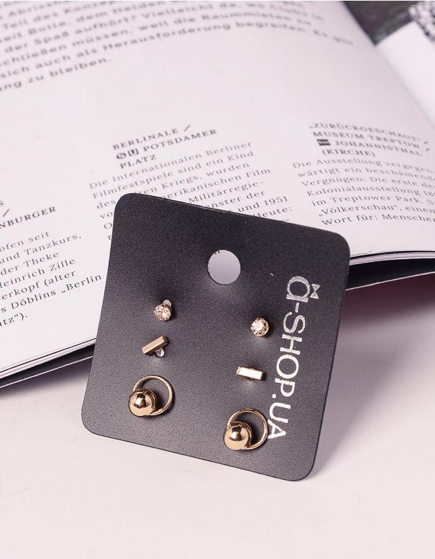 Сережки пусети у наборі | 239831-04-XX - A-SHOP