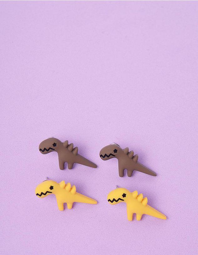 Сережки пусети у наборі у вигляді динозавриків   246318-12-XX - A-SHOP