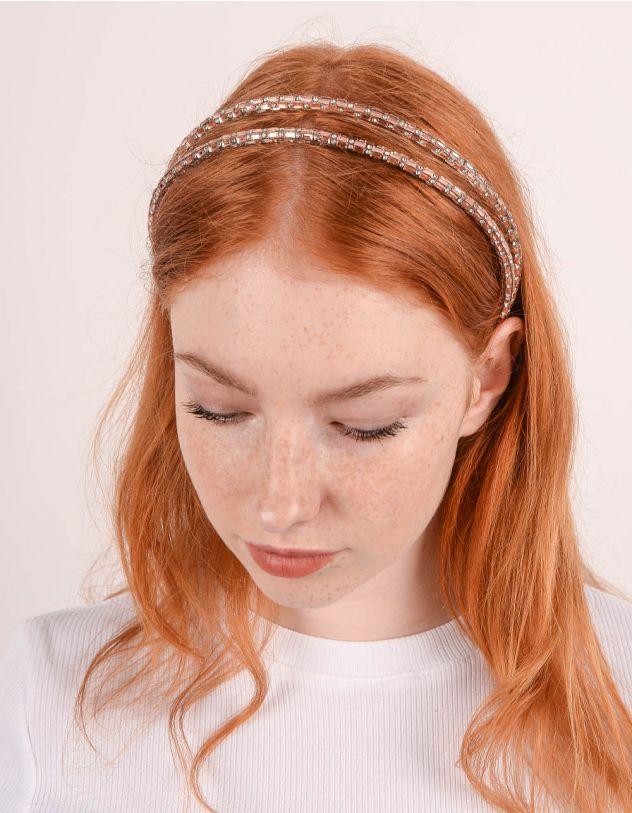 Обідок для волосся подвійний зі стразами | 247439-69-XX - A-SHOP