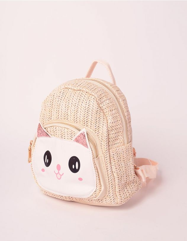 Рюкзак плетений з кицькою | 239320-22-XX
