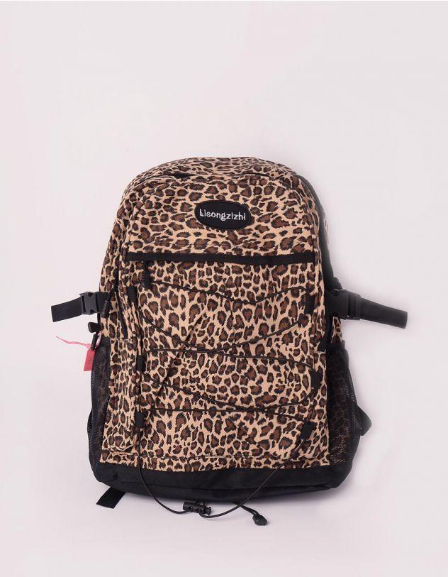 Рюкзак для міста з леопардовим принтом | 245839-12-XX - A-SHOP