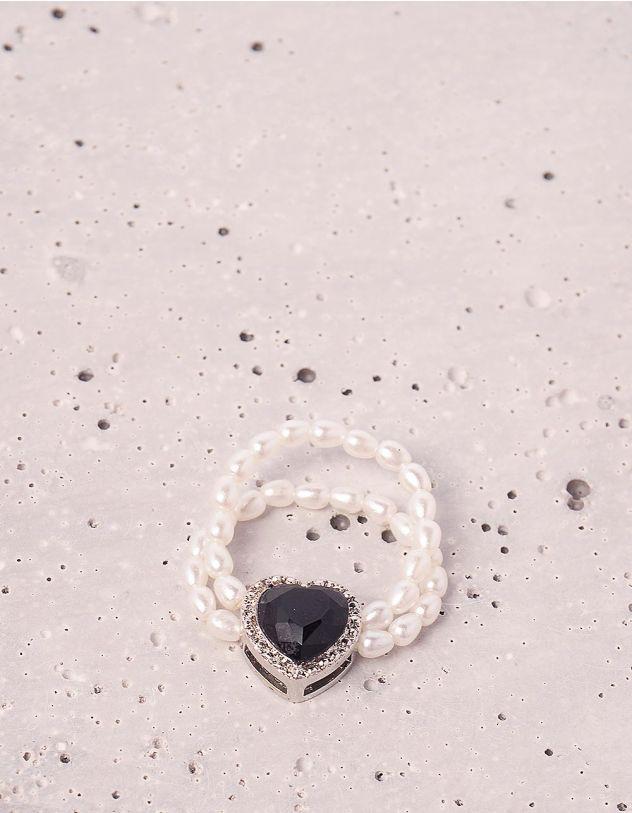 Кільце із перлин з серцем | 246997-02-XX - A-SHOP