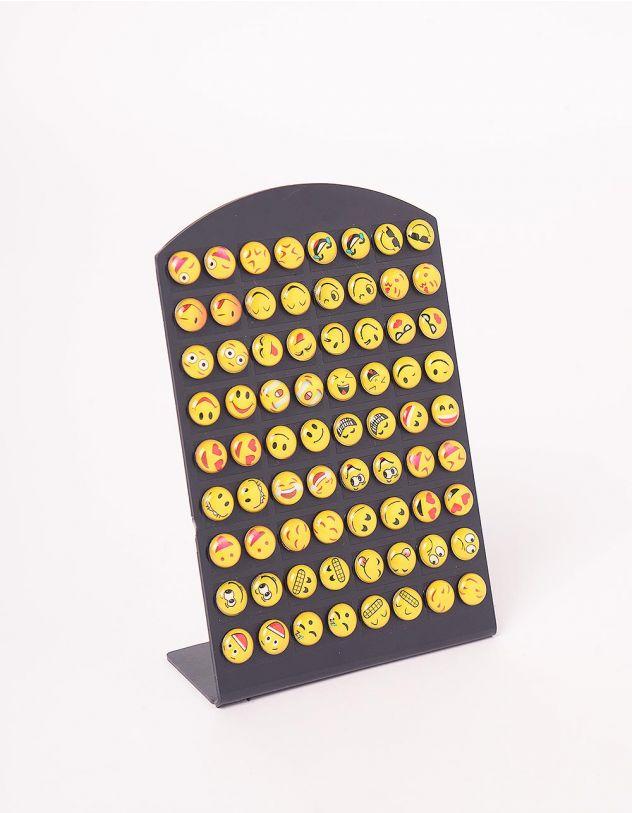 Сережки пусети у наборі із зображенням смайликів | 245036-21-XX - A-SHOP
