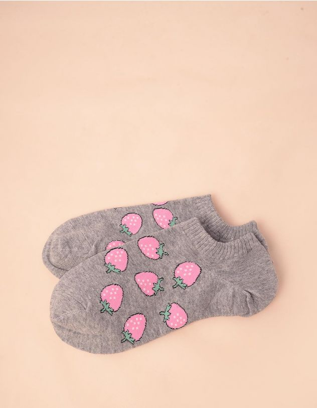 Шкарпетки з принтом полуниці | 247070-11-XX - A-SHOP