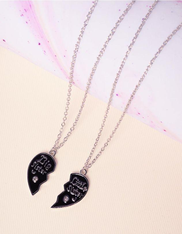 Підвіска френди парна з кулонами у вигляді серця   227818-07-XX - A-SHOP
