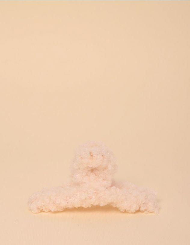 Шпилька для волосся крабік з хутром | 246774-40-XX - A-SHOP