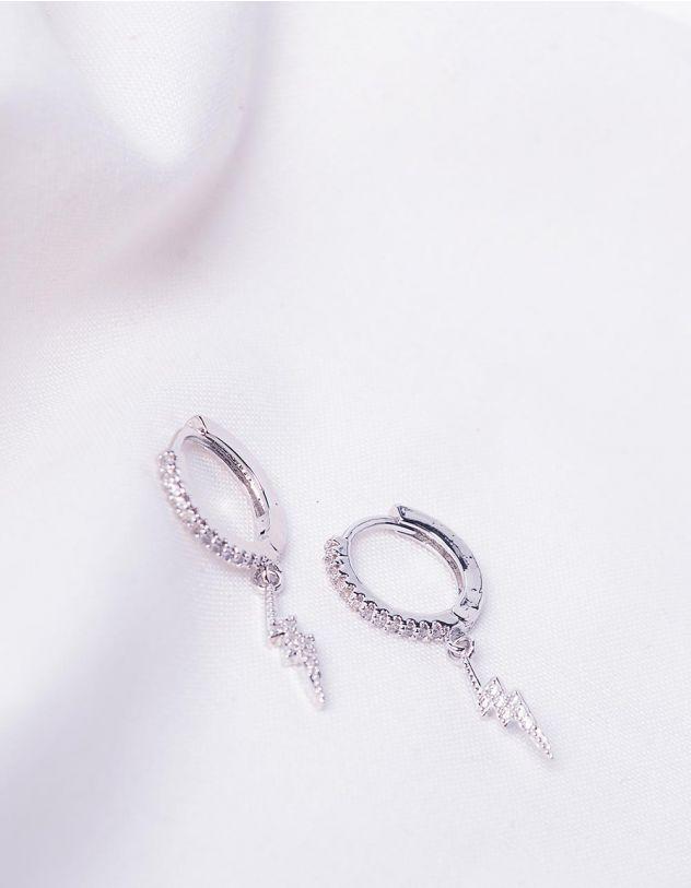 Сережки кільця з блискавкою | 244189-06-XX - A-SHOP